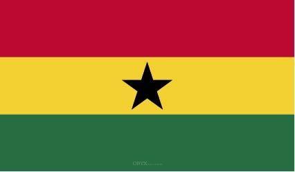 """Aufkleber """"Ghana Flagge"""" 100x60"""