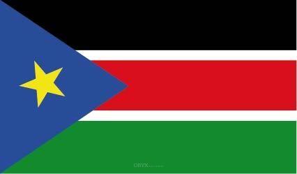"""Aufkleber """"Südsudan Flagge"""" 150x90"""