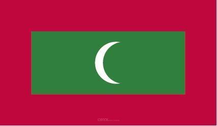 "Aufkleber ""Malediven Flagge"" 100x60"