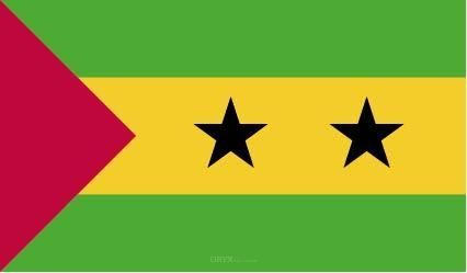 """Aufkleber """"São Tomé und Príncipe Flagge"""" 100x60"""