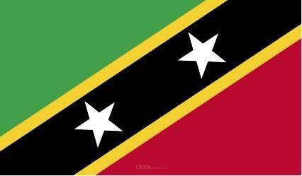 """Aufkleber """"St. Kitts und Nevis Flagge"""" 100x60"""