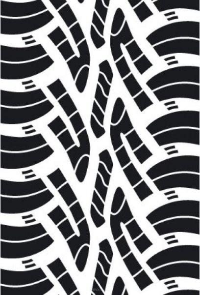 Aufkleber Reifenprofil / Reifenspur Version 6 braun