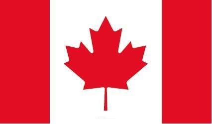 "Aufkleber ""Kanada Flagge"" 100x60"