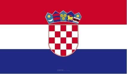 """Aufkleber """"Kroatien Flagge"""" 100x60"""