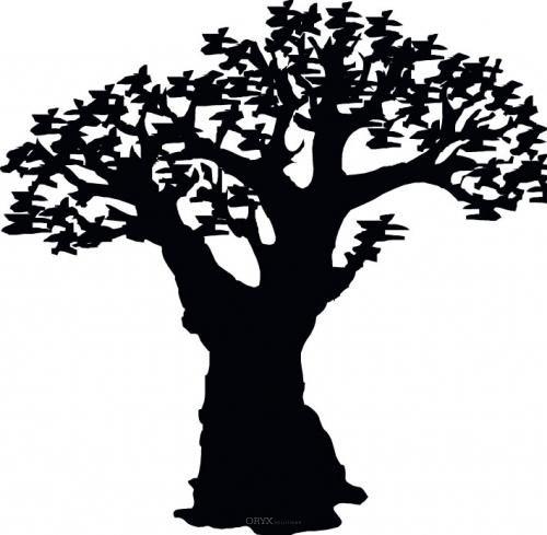 "Aufkleber ""Baobab"" braun"