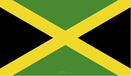 "Aufkleber ""Jamaika Flagge"" 150x90"