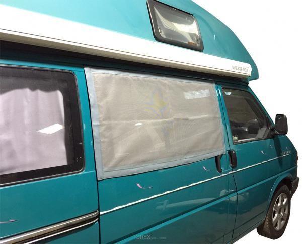 Moskitonetz für Schiebetürfenster passend für Bus T4
