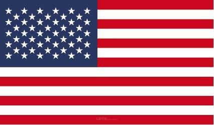"""Aufkleber """"Vereinigte Staaten von Amerika Flagge"""" 100x60"""