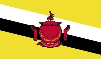 "Aufkleber ""Brunei Darussalam Flagge"" 100x60"