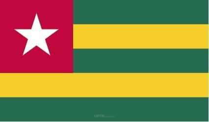 "Aufkleber ""Togo Flagge"" 100x60"
