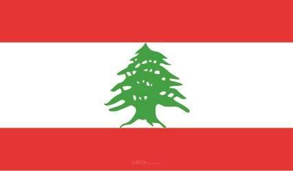 "Aufkleber ""Libanon Flagge"" 100x60"