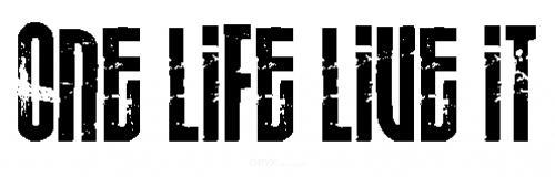 Aufkleber One Life Live It