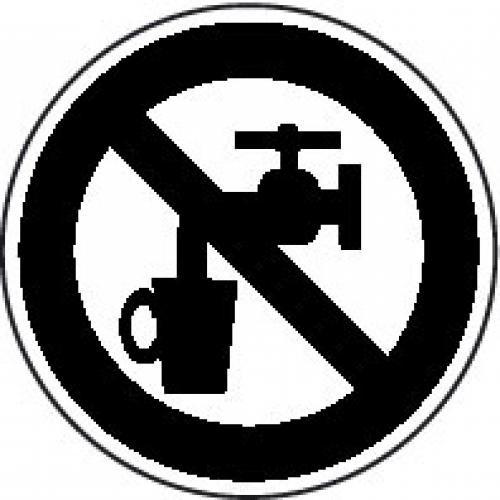 """Aufkleber """"Piktogramm kein Trinkwasser"""" beige"""