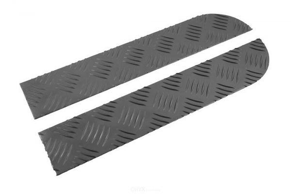 Riffelblechauflage für Stoßstange, vorne, passend für Defender