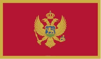 "Aufkleber ""Montenegro Flagge"" 100x60"