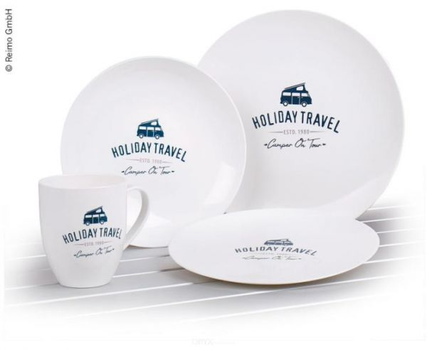 Geschirr-Set HOLIDAY TRAVEL, PLA, 8-teilig