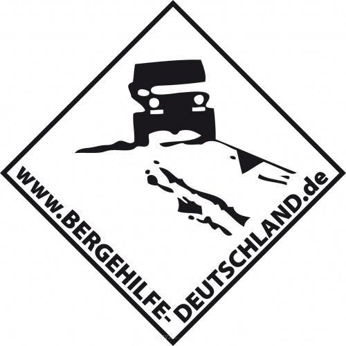 Aufkleber Bergehilfe Deutschland Hintergrund weiß ca. 200x200
