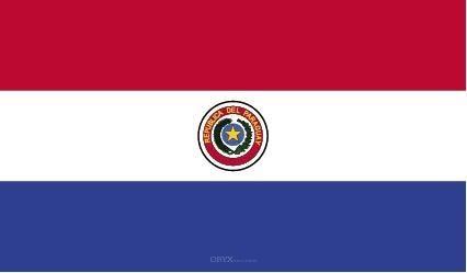 """Aufkleber """"Paraguay Flagge"""" 100x60"""