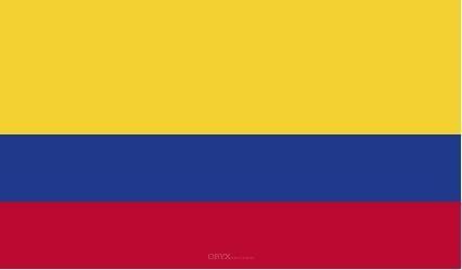 "Aufkleber ""Kolumbien Flagge"" 100x60"