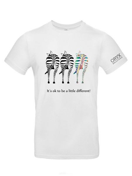 """T-Shirt """"It´s ok to be a little different!"""" S"""
