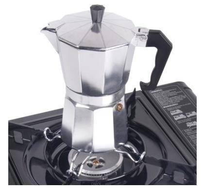 Topfkreuz/Aufsatz f. Kocher, für kleine Töpfe, Pfannen, Espressokocher