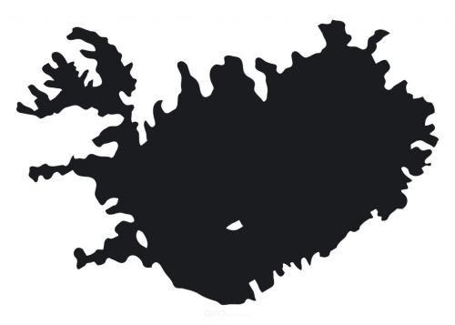 """Aufkleber """"Island"""" weiß"""