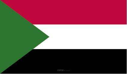 "Aufkleber ""Sudan Flagge"" 100x60"