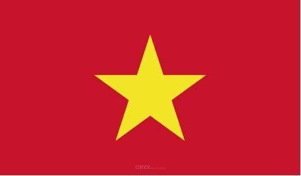 "Aufkleber ""Vietnam Flagge"" 150x90"