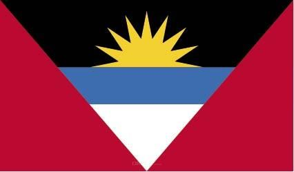 "Aufkleber ""Antigua und Barbuda Flagge"" 100x60"