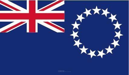 "Aufkleber ""Cookinseln Flagge"" 100x60"