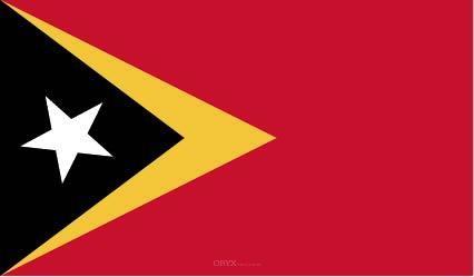 """Aufkleber """"Osttimor Flagge"""" 100x60"""