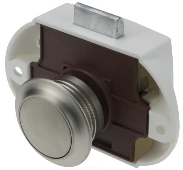 Push Lock - Möbelschloss, silber