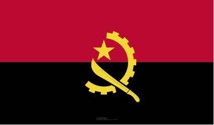 """Aufkleber """"Angola Flagge"""" 100x60"""