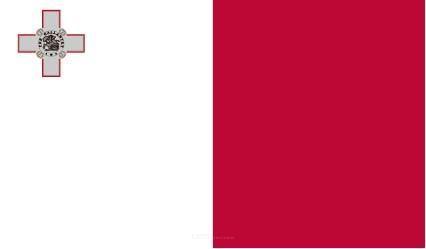 "Aufkleber ""Malta Flagge"" 100x60"