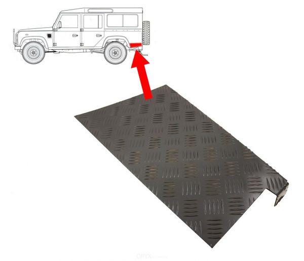 Riffelblech Schutz für Seitenteile hinten, rechts und links, schwarz, passend für Defender 110