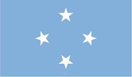 "Aufkleber ""Mikronesien Flagge"" 150x90"