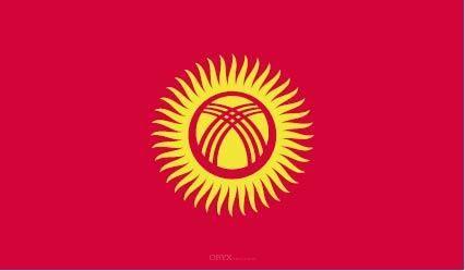 "Aufkleber ""Kirgisistan Flagge"" 100x60"