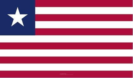 "Aufkleber ""Liberia Flagge"" 100x60"