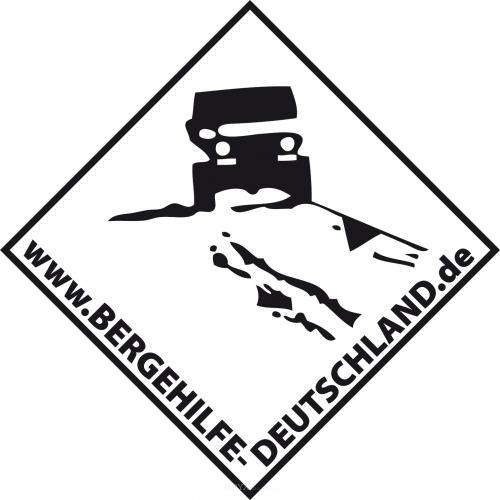Aufkleber Bergehilfe Deutschland Hintergrund Weiß