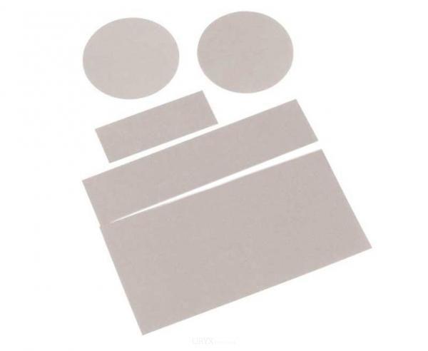 5 selbstklebende Polyamid-Flicken zur schnellen Zeltreparatur, grau