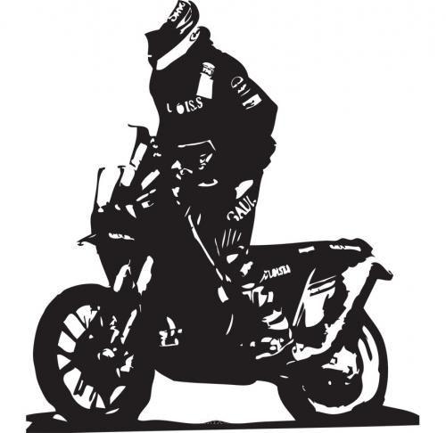 Aufkleber Motocross Version 2 weiß, 550x550