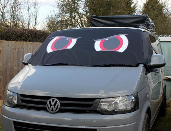 """Fahrerhaus Sonnenschutz """"Angry Eyes"""", passend für Bus T5 und T6"""