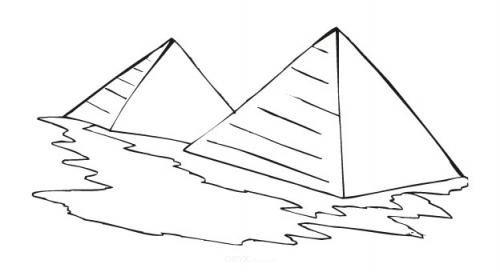 "Aufkleber ""Pyramiden"" braun"