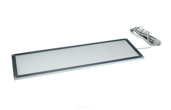 LED Deckenleuchte, 100x300mm, Rahmen silber, warmweiß