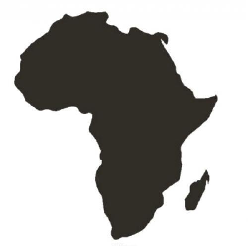 "Aufkleber ""Afrika"" braun"