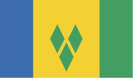 """Aufkleber """"St. Vincent und die Grenadinen Flagge"""" 100x60"""