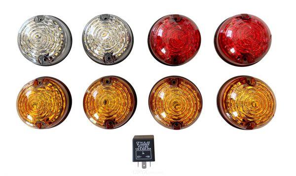 LED Signalleuchten Set, Original Farben, für Land Rover Defender