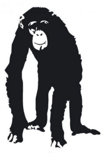 """Aufkleber """"Schimpanse"""" beige"""