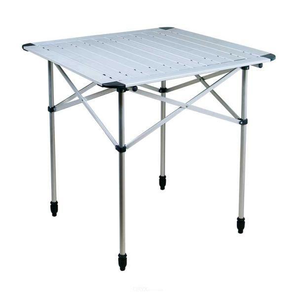 Kompakter und handlicher Alu-Rolltisch, ca. 70x70cm