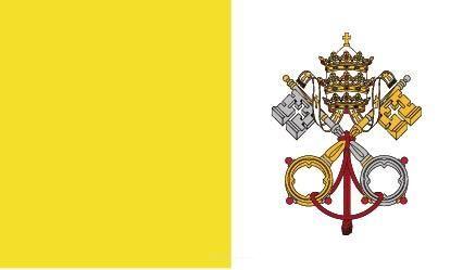 "Aufkleber ""Vatikanstadt Flagge"" 100x60"